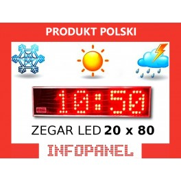 ZEGAR LED 20X80
