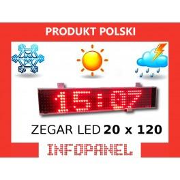 ZEGAR LED 20X120