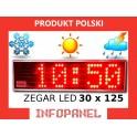 ZEGAR LED 30X125