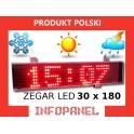 ZEGAR LED 30X180